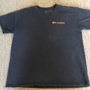 Used Men's Costa Navy Blue size large t-shirt
